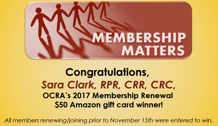 Sara Clark Membership Renewal Winner